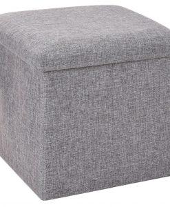 Úložný sedací box Tessile šedá