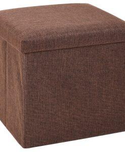 Úložný sedací box Tessile hnědá