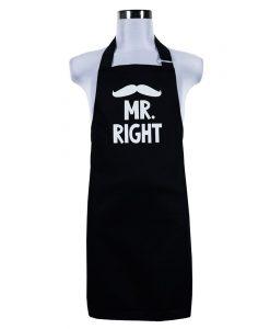 Šik v kuchyni Pánská zástěra Mr. right
