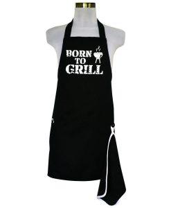 Šik v kuchyni pánská zástěra s otvírákem Born to Grill