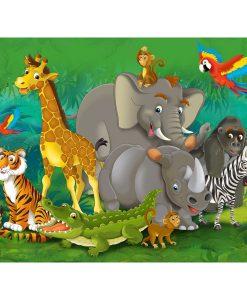 AG Art Dětská fototapeta XXL Zvířata v džungli 360 x 270 cm