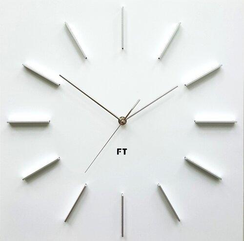Future Time FT1010WH Square white 40cm Designové hodiny