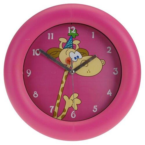 Nástěnné hodiny Giraffe růžová