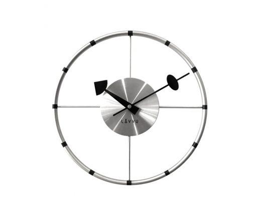 Nástěnné hodiny Lavvu Compass stříbrná