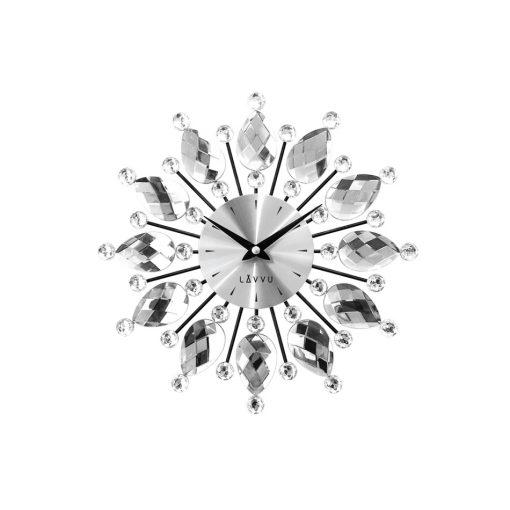 Nástěnné hodiny LAVVU CRYSTAL Flower LCT1120