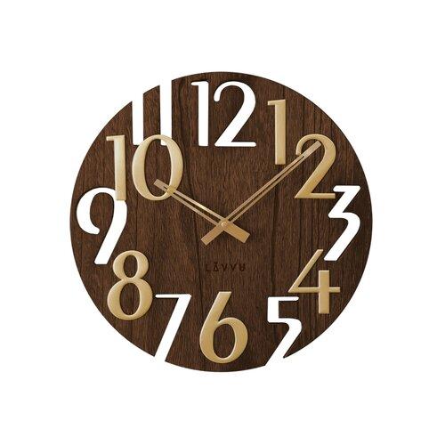 LCT1011 Nástěnné hodiny LAVVU STYLE Brown Wood